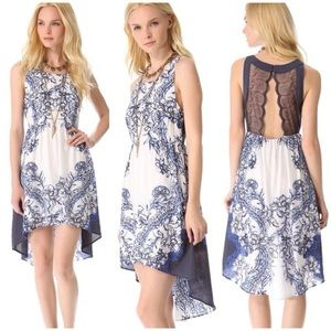 Free People Blue White Russian Dress